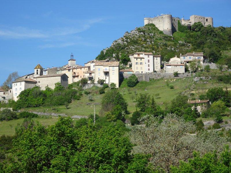 Le village et le château de Trigance