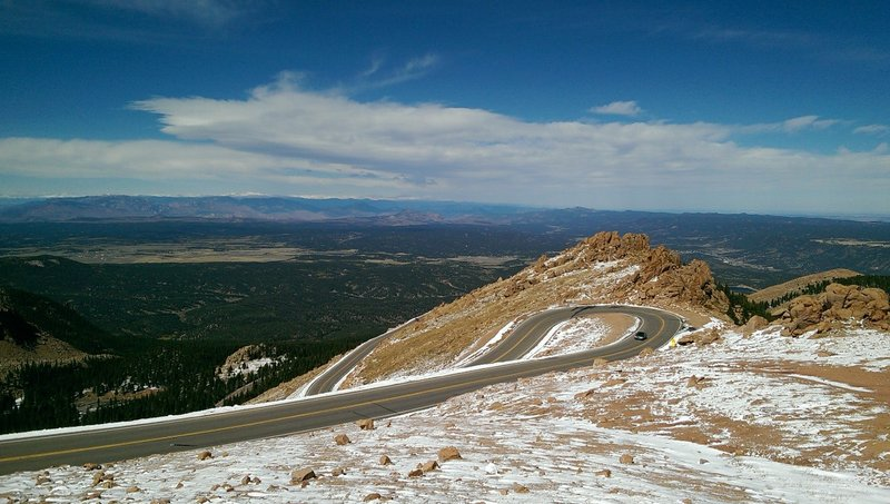 Switchbacks to Pikes Peak