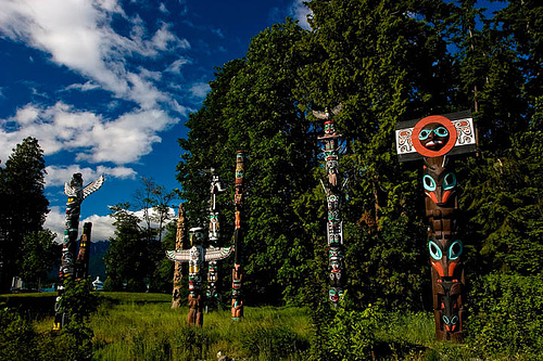 Totem Poles in Stanley Park, Vancouver