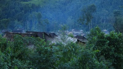Akha hill tribe village