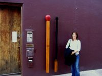 Jo outside Brett Whiteley's studio