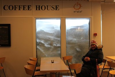 Coffee shop with a view at North Cape