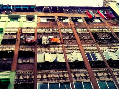 Kolkata architecture and laundry day