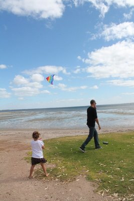 Kite flying on Christmas