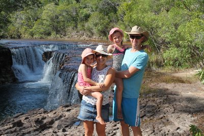 An actual family pic at Eliot Falls