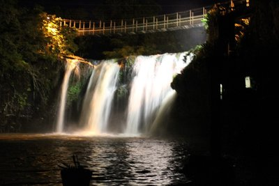 One of Australias Lit up Waterfalls
