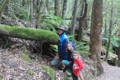 On our first walk in Tassie