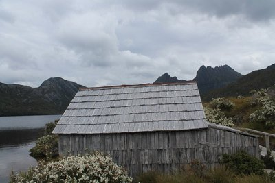 Boat shed at Dove Lake