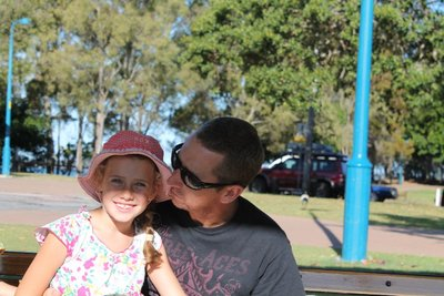 Kiss for my lil girl