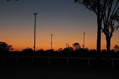 sunset at the van park