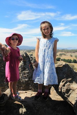 Girls at the top of the rocks