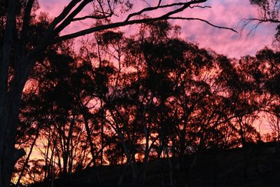 Stunning sunset in the hills...