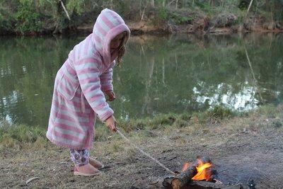 Toasting marshmallows - yum