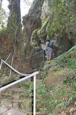 the steep walk