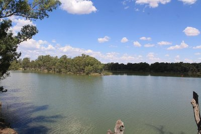The Murray and Darling River joining together....