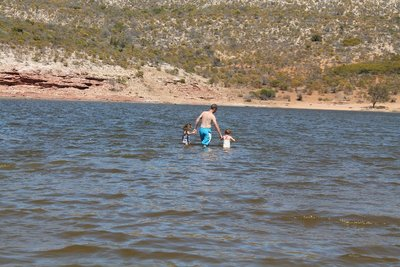 Swimming in the Murchison River
