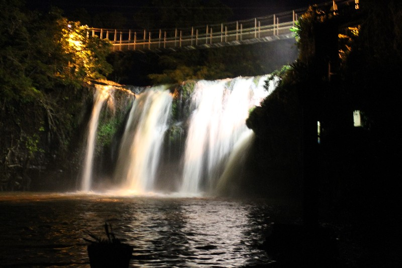 One of Australias Lit up Waterfalls