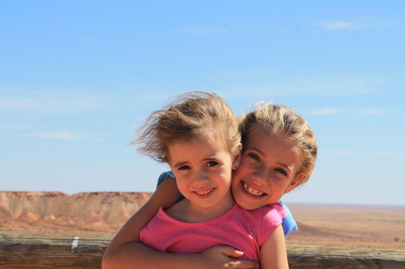 Having a cuddle in the desert!