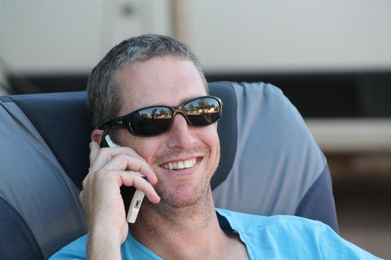 Jason grinning up!