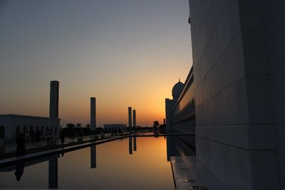 Sheikh Zayed Mosque during sunset
