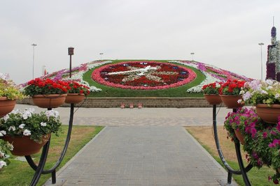 Miracle Clock at Miracle Garden, Dubai