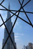 Burj Khalifa thru a mesh
