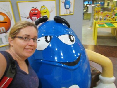 Selfie with the blue m&m