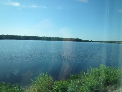 Train between Rovaniemi and Tampere, Finland