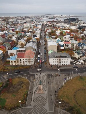 View from tower of Hallgrimskirkja