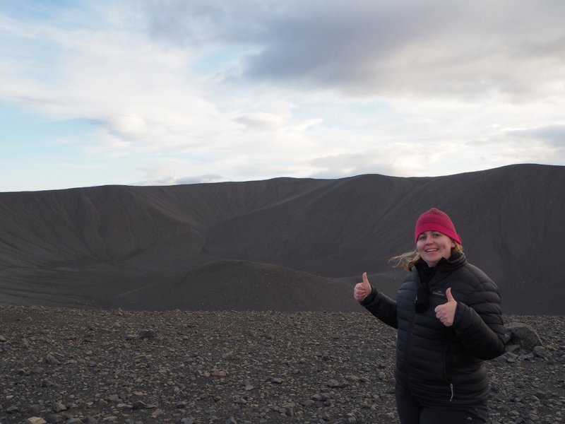 At the top of Hverfjall (volcano)