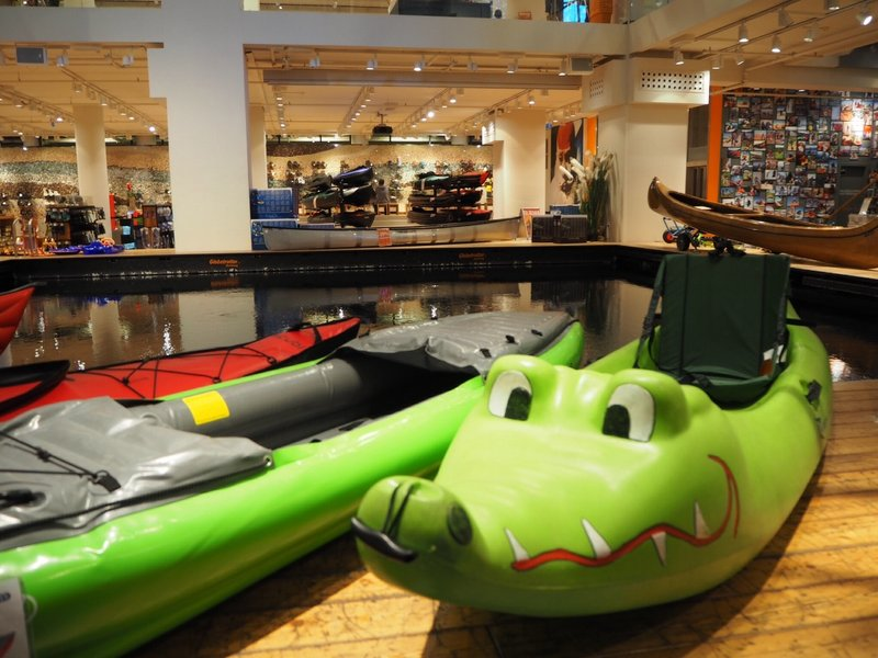 Kayaking in store