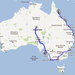 Australia Travel Route