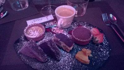Le Deck 'cafe gourmand ' dessert