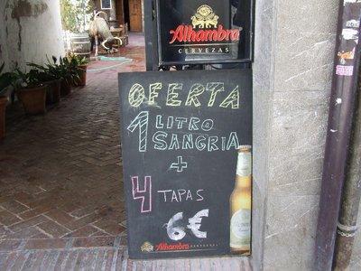Sangria sign