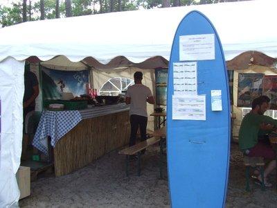 surf camp main tent