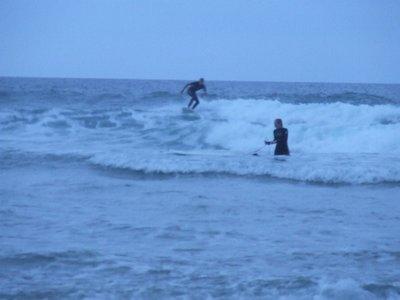 evening surfing