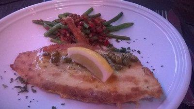 Main dish. fish, lentil & bean side