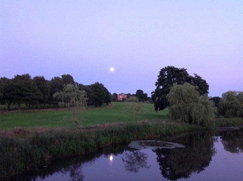 Moonlight over Barlaston hall