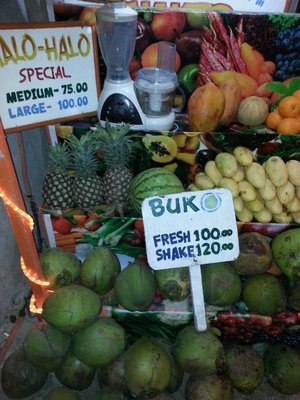 Buko juice (coconut) at $2.00