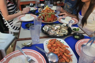 Yummy seafood. We enjoy eating at the Dampa (market) where you can choose your fresh seafood from the vendors and have it cooked at the restaurants beside the market. Cheaper too!
