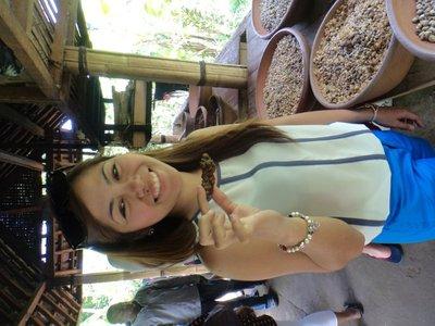 That's me holding Luwak Poop