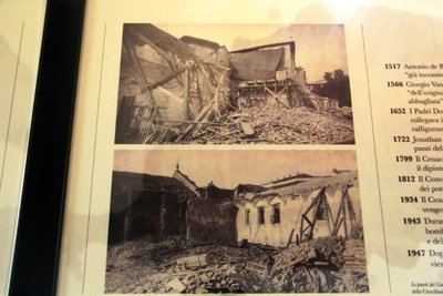 picture of the monastery when it was bombed during the WW2
