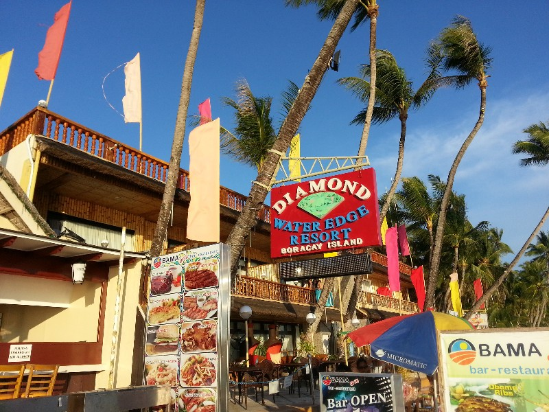 Some of the establishments in Station 1 Boracay