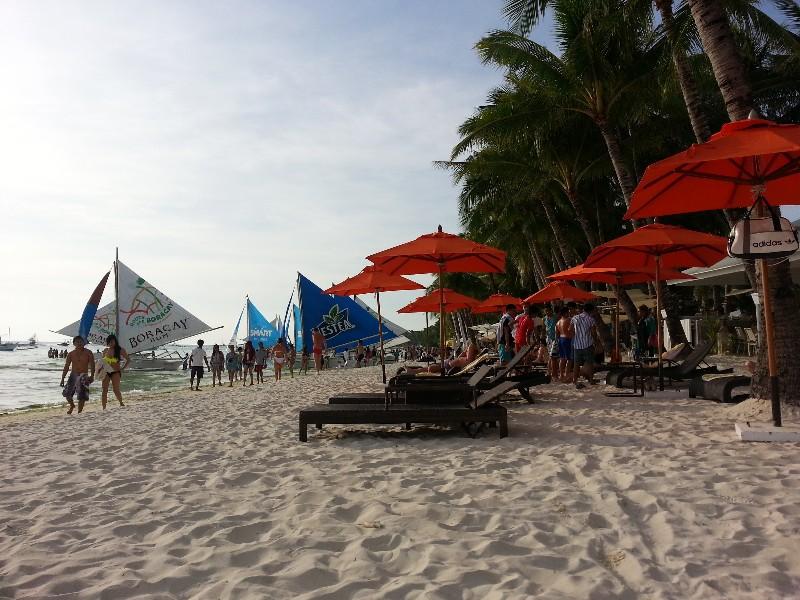 Fine white sand of Boracay