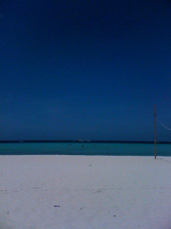 Fine white sand