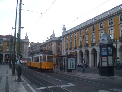 Tram at Praca do Comercio