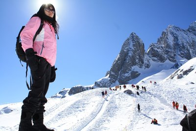 Me at the Jade Dragon Snow Mountain