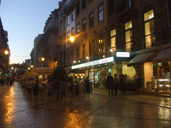Rua Augusta at night