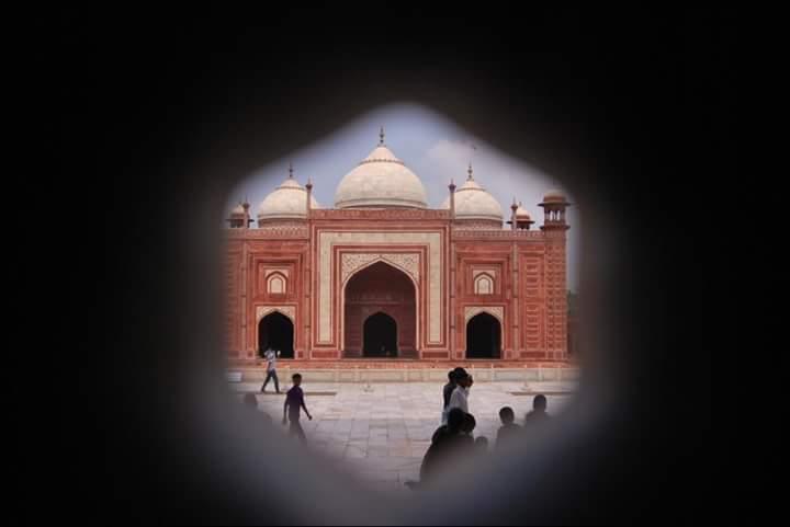 Red Sandstone Taj Mahal Mosque