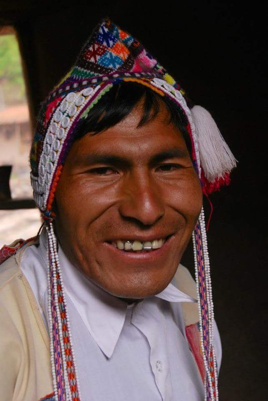 Andean man smiling